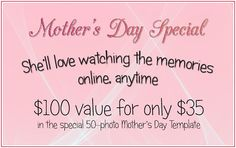 Your mother would LOVE to watch a video of family photos created delightfully by Creative Photo Slideshows!