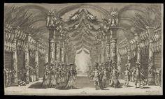 Cesti, Il Pomo d'oro, Vienna 1668: arsenal of Marte (Mars) and Venere (Venus), Act III Scene VI (Stage Design: L. Burnacini),V&A Collections