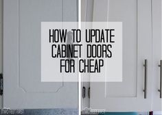 Update Kitchen Cabinets for Cheap | Shaker style cabinet doors ...