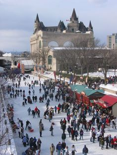 Skating on the Rideau Canal (the world's largest natural skating rink), Ottawa, Canada