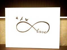 I could actually see this being a small tattoo..  Infinity Love  Modern Art White  Black Acrylic Paint by NJoySArt, $250.00
