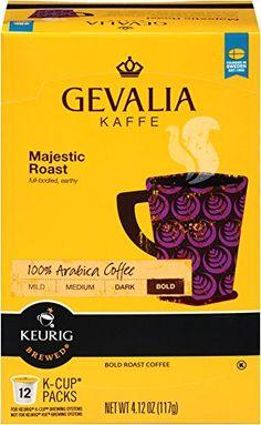 Gevalia - Majestic Roast - K Cups Gevalia Kaffee Majestic Roast K Cups For use in Keurig K-Cup Brewers Delicious Majestic Full-Bodied, Earthy 12 k cups per box x 3 boxes Coffee K Cups, Coffee Pods, Coffee Effects, Low Acid Coffee, Expensive Coffee, Coffee Store, Dark Roast, Coffee Roasting, Coffee Machine