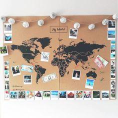 Mapamundi de Corcho – Mapa Político Mundo – Woody… – Cork World Map – World Political Map – Woody … – map Related posts: Polaroid-Foto-Weltkarte – – Do it yourself: make a mosaic world map out of color … Cork World Map, World Map Decor, World Map Wall Art, Wall Maps, Cork Map, Travel Room Decor, Diy Home Decor Bedroom, Diy Room Decor Tumblr, Travel Bedroom