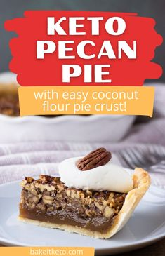 This sugar free pecan pie recipe is crazy easy and it's from a type 1 diabetic, so you know it's truly the best blood sugar friendly recipe. Low carb, keto friendly, and gluten free!