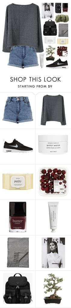 """""""GOLDEN GRAND PIANO"""" by f-4bulous ❤ liked on Polyvore featuring River Island, Opening Ceremony, NIKE, Byredo, philosophy, Butter London, Acne Studios, Prada, Crate and Barrel and women's clothing"""