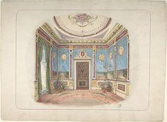 Designed by John Dibblee Crace | Design for a Room | The Met