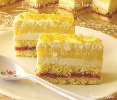 Cake with Lemon Cream Romanian Desserts, Romanian Food, Lemon Cream, Something Sweet, Vanilla Cake, Gingerbread, Gem, Sweet Treats, Cheesecake