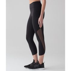 Lululemon Athletica Sole Training Crop (6,295 INR) ❤ liked on Polyvore featuring activewear and activewear pants