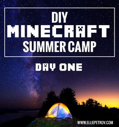 Everything you need to run your own DIY Minecraft Summer Camp. Each day includes indoor and outdoor activities, fun Minecraft-themed foods, and more!