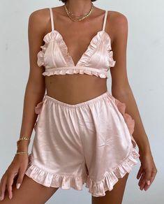 """""""I need this set in my life"""" Bodysuit Lingerie, Lingerie Sleepwear, Nightwear, Country Style Dresses, Silk Bralette, Cute Underwear, Jolie Lingerie, Nude Dress, Pretty Lingerie"""