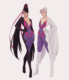 "oeilvert: ""salazzle gijinka that is just bayonetta and jeanne as shiny salazzle """
