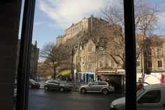 The view of Edinburgh Castle from the Apex International Hotel in the Grassmarket.