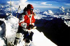 Himalaya  - Jerzy Kukuczka on the summit of Shishapangma