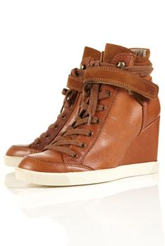 these are super cool. a cross between high-top sneakers and wedge boots!