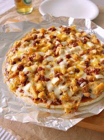 Food Wanderings in Asia: Enchilada Chicken Parmesan Pizza