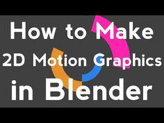Blender Tutorial - Basic 2D Motion Graphics - YouTube