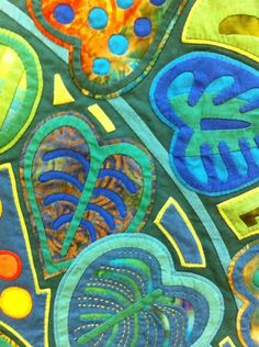 Fumiko Nakayama's quilt, detail