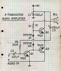 3-Transistor Audio Amplifier