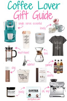 Coffee Lovers Gift Guide - Coffee Lovers Gift Guide * Zesty Olive – Simple, Tasty, and Healthy Recipes - Simple Gifts, Easy Gifts, Cute Gifts, Valentines Gifts For Boyfriend, Boyfriend Gifts, Valentine Gifts, Holiday Gift Guide, Holiday Gifts, Christmas Gifts
