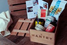 The Mantry subscription box delivers a new and exciting food experience every month. The monthly Mantry crate includes 6 full-size, super premium foods from across the country America, for you to eat and enjoy.