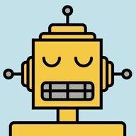 ModTots Robots Jackhammer Print