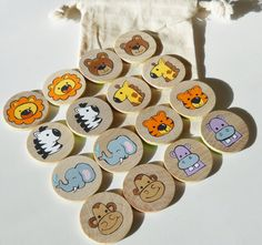 Memory Game Zoo Animals Going to the Zoo Memory by 2HeartsDesire, $12.00 Hand Crafted In The U.S.A.
