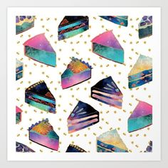 Pie that fills up the sky  #dessert #pie #pattern #fabric