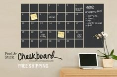 $15 for a six-foot, peel-and-stick chalkboard, plus free shipping!