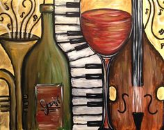 Browse our upcoming painting classes and events at North Shore Pinot's Palette! Reserve your seat for the best paint and sip experience today! Jazz Painting, Painting Classes, Paintings I Love, Awesome Paintings, Acrylic Paintings, Guitar Pics, Wine Art, Paint And Sip, Drawing Lessons