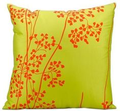 Nourison Mina Victory Weeds Outdoor Throw Pillow in Green
