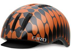 GIRO BANJO H HELMET Giro's new futuroretroistic Reverb Banjo H pattern extrusion exudes voluminous velocipædic élan. While it may not be the best choice for an overnight on the Cahulawassee River mixed-use wilderness trail, the House Industries Banjo Reverb nimbly reconciles the need for cranial care with contemporary urban and suburban cycling irony. Purchase at your local bike shop or from Giro.