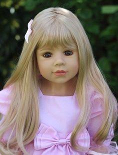"""Masterpiece * Amber * Monika Levenig Doll 39"""" Blonde All Vinyl Doll  #Masterpiece #Doll"""