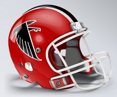 3963c7bb9a0 Atlanta Falcons Throwback Helmet