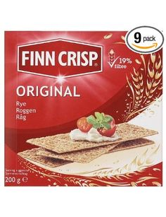 Finn Crisp Original, Delicately Thin Rye Crispbread, 7-Ounce Boxes (Pack of 9): Amazon.com: Grocery & Gourmet Food