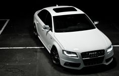White Audi black wheels!