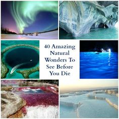 Amazing Natural Wonders Of The World & 40 Places To See Before You Die #travel #amazing #nature