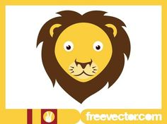 Lion Head Design Free Vector Silhouette Clip Art, Animal Silhouette, Free Vector Images, Vector Free, Nature Vector, Zoo Animals, Cartoon Images, Big Eyes, Vector Graphics