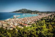 View over Zakynthos Town and Port Photograph by Alistair Ford