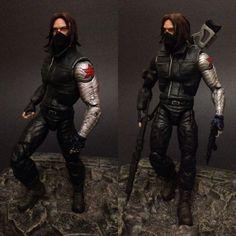 Civil war: Winter soldier (Marvel Legends) Custom Action Figure by GoldenHand_customs Base figure: Captain America Mandroid series