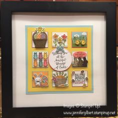 Easter Collage Sampler mainly using the Basket Bunch Bundle by Stampin' Up! Like my FB page at Stampin' Share with Jenny. #stampinup #BasketBunchBundle