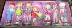 AWESOME-Vintage-Stockinette-Made-in-Japan-7-Days-Working-Dolls-Mint-in-Box