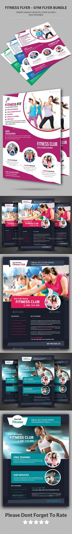 Fitness Flyer V  Flyer Template Font Family And Fonts