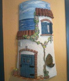 Resultado de imagen de tejas decoradas