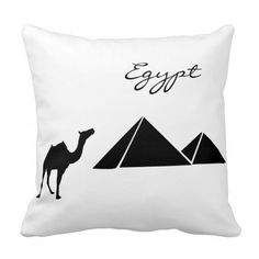 Black and White Egypt Passport Pillow Throw Pillows #zazzle #pillow #egypt #passport