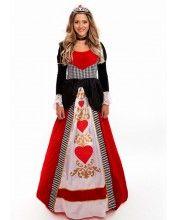 Deluxe Queen Of Hearts Dress Womens Costume