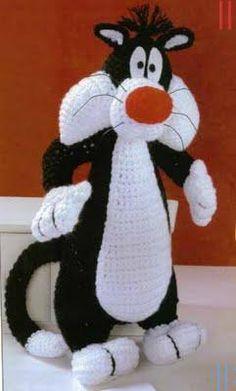 Mesmerizing Crochet an Amigurumi Rabbit Ideas. Lovely Crochet an Amigurumi Rabbit Ideas. Chat Crochet, Crochet Mignon, Crochet Amigurumi Free Patterns, Crochet For Kids, Crochet Dolls, Crocheted Toys, Amigurumi Tutorial, Knitting Patterns, Crochet Crafts