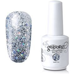 Elite99 Soak-Off UV LED Gel Polish Nail Art Manicure Lacquer Glitter Clear 329 15ml * You can get more details by clicking on the image. (This is an affiliate link) #FootHandNailCare