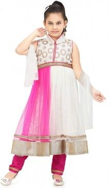 Buy Off White Color Anarkali Suit Specialty Kids Wear Girls Online | FH422567506