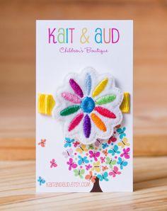 Girl Scout Daisy feltie  hair clippie by kaitandaud on Etsy, $4.00