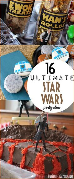 Amazing Star Wars Party Ideas. Out of this world ideas for throwing the most perfect Star Wars birthday bash. Star Wars party decor, food and favors. Creative food featuring Princess Leia, Han Solo and Yoda.